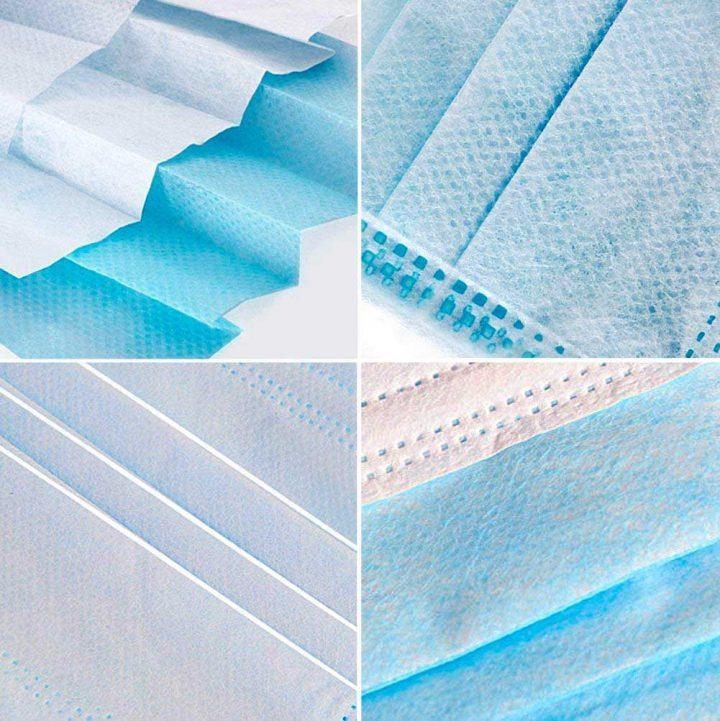 Texture masques jetables 3 plis