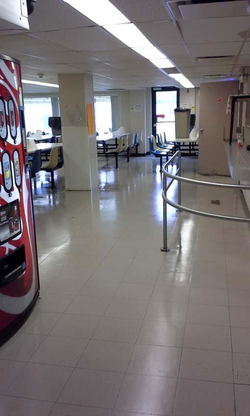 entretien plancher cafetaria